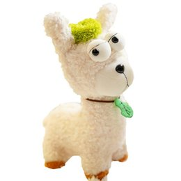 stuffed plush sheep NZ - 25cm Stare Sheep Plush Toy Llama Dolls Stuffed Animal Collectible kawaii soft kids Toys for Children Christmas Gifts