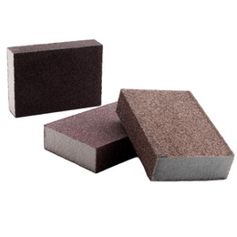 sponge blocks Canada - dophee 2Pcs Abrasive Foam Polishing Sanding Sponge Block Sandpaper Assorted Grit 60 80 120 Grinding Buffing Pad Polishing Tools