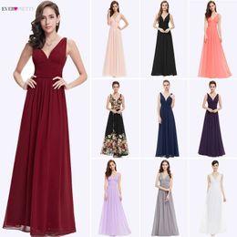 $enCountryForm.capitalKeyWord Australia - Bridesmaid Dresses 2019 Ever Pretty 5 Style Womens Fahion A-line V-neck Elegant Long Chiffon Wedding Party Gowns Y19072901