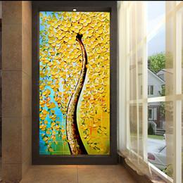 $enCountryForm.capitalKeyWord Australia - 3d corridor aisle porch background wallpaper wardrobe door glass door Seamless large mural Chinese three-dimensional wealth tree painting