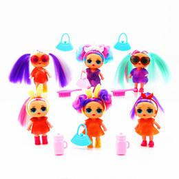 $enCountryForm.capitalKeyWord Australia - American style 4inch LOL hair Dolls funko pop fashion Christmas gift Action Figures Realistic Reborn Dolls for girls kids toys