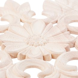 rubber carving NZ - Promotion! 1X Rubber Wood Carved Floral Decal Craft Onlay Applique Furniture DIY Decor #C:20*20Cm Kitchen Storage Organization