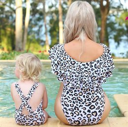 $enCountryForm.capitalKeyWord NZ - New Leopard Printed Mother And Daughter Swimming Suits Sexy Parent And Child Swimsuit One Piece Swimwear Bikini Gym Swim Wear 6