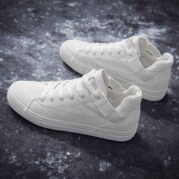 $enCountryForm.capitalKeyWord Australia - Brand New High Top Casual Shoes For Men Canvas Lace Up Mens Hip Hop Shoes Men High Top Sneaker Big Size 39-44 Dec4
