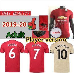Man utd shorts online shopping - Player version FC Manchester POGBA home soccer jersey UNITED ALEXIS RASHFORD LUKAKU MARTIAL UTD Man football shirt uniforms