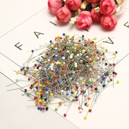 head pins sewing NZ - Portable Glass Pearlized Head Pins Multicolor Sewing Pin for DIY Sewing Crafts Sewing Accessory 500pcs Box