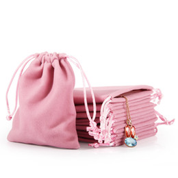 $enCountryForm.capitalKeyWord Australia - New Velvet Jewelry Drawstring Cord Gift Bags Pink Ice gray Dust Proof Cosmetic Storage Crafts Packaging Pouches for Boutique Retail Shop