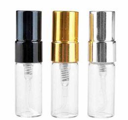 Venta al por mayor de Botella de perfume de 2 ml Mini botella de spray vacía Botella de vidrio de atomizador refilable por DHL Envío gratis