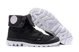 Palladium Medium Shoe Boots NZ - Hot sale designer shoes PALLADIUM Pallabrouse Men High-top Army Military Ankle boots Canvas Sneakers Casual Shoes Mans Anti-Slip sport Shoes