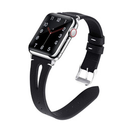 Watch Bracelet Size UK - Leather Waist Slimming Wristband Straps for Apple Watch iWatch Size 38 40mm 42 44mm Bracelet Rubber Watchband for Apple Watch Series 1 2 3 4