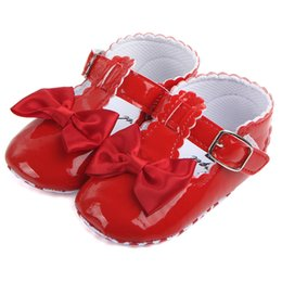 Knotted Sandal Australia - kids Shoes Newborn Toddler Infant Baby Girls Bow-knot Leather Shoes Soft Sole Anti-slip Baby First Walker baby girls sandals