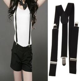 Elastic Pant Clips Australia - 1pcs Clip-on Adjustable Unisex Mens Pants Braces Straps Fully Elastic Y-back Suspender Braces belt