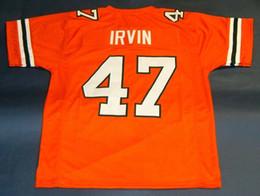 Cheap # 47 MICHAEL IRVIN UNIVERSITÀ CUSTOM DI HURRICANES JERSEY arancione Mens Stitching College Taglia S-5XL Maglie da calcio NCAA in Offerta
