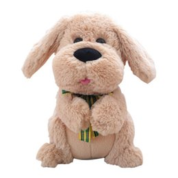 singing movies Canada - 30cm 40cm Electric Dog Music Ears Flapping Move Interactive Plush Toy Stuffed Animal Singing Doll Dog Toys For Birthday Gift
