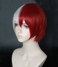 $enCountryForm.capitalKeyWord NZ - Anime My Hero Academia Akademia Shoto Todoroki Shouto White And Red Cosplay Wigs