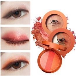$enCountryForm.capitalKeyWord Australia - UBUB 3 Colors Eye Shadow Makeup Highlighter Powder Smoked Eyeshadow Palette maquiagem profissional completa 40*