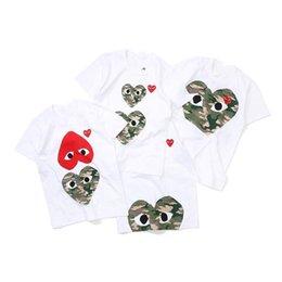 $enCountryForm.capitalKeyWord Australia - Mens designer t shirts women commes Heart sport tee Shirts des garcons family Clothes T-Shirt CDG PLAY baby kids t shirt