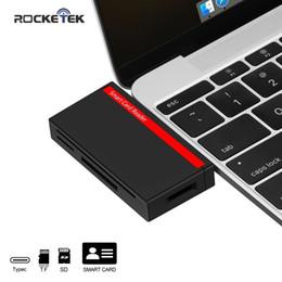 $enCountryForm.capitalKeyWord Australia - Rocket Type Usb-c 3.0 Smart Card Reader Sd tf Micromemory Id Bank Card, Sim Clone Computer Connector
