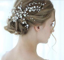 Silver Hair Clips Wedding Australia - Wedding Bridal Flower Clip Hair Accessories Jewelry Crystal Rhinestone Headpiece Headdress Crystal Rhinestone Silver Jewelry Hair Pins Gift
