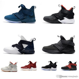 meet 45691 d64cd Women lebron soldier 12 shoes for sale Bred Olympic Gold USA Red Boys Girls  Youth Kids soldiers 10 XII elite outdoor sneakers boots with box