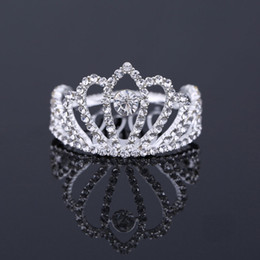 $enCountryForm.capitalKeyWord Australia - head tiara TDQUEEN Mini Round Tiaras and Crowns with Comb Silver Plated Crystal Rhinestone Bridal Wedding Hair Accessories for Women