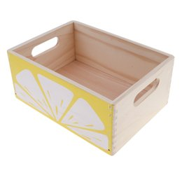 $enCountryForm.capitalKeyWord UK - Creative Wooden Lemon Storage Box for Ketchup Play Food Kitchen Pretend Play Cooking Props Chef Role Play Preschool Toys