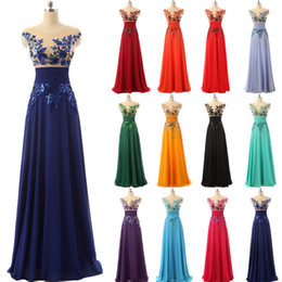 $enCountryForm.capitalKeyWord UK - Under 50$ Elegant Floor Length Formal Evening Dresses Chiffon long Party Dresses with Appliques and Crystals Prom Dresses Hot Sale SD159