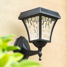 Lamp gate online shopping - Outdoor Waterproof IP65 Solar Wall Light Garden Main Gate Wall Mount Solar Light European Solar Wall Lamp