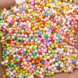Blue foam Bottle online shopping - 900PCS mm Mini Colored Round Foam Balls Crystal Bottle Decor Pillow Sofa Filler Styrofoam Ball DIY Christmas Decor M0104