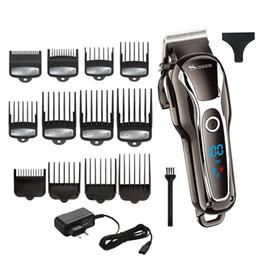 Black Cutters Australia - Barber powerful hair clipper barber professional hair trimmer for men electric cutter hair cutting machine haircut salon tool