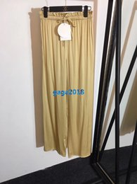 $enCountryForm.capitalKeyWord NZ - high end women girls 100% silk drawstring jogging pant casual relaxed loose wide leg legging custom runway fashion design luxury trousers