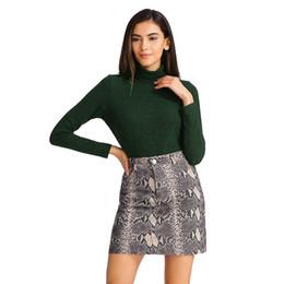 Chinese  Korean Clothes Women Sexy Snake Print Skirt Elastic Suede Zipper Button Bodycon Short Mini Skirt Faldas Mujer Moda 2019 Harajuku manufacturers