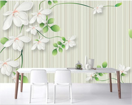 chinese hand paintings Australia - 3d room wallpaper custom photo mural Hand-painted Chinese style pen and flower background wall decorative self-adhesive art canvas pictures