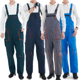 heavy red clothing NZ - Large Size 4XL Men's Bib Pants Fashion Functional Clothing Men Heavy Duty Work Jumpsuit Coveralls Overalls Mechanic Indoor Pants