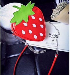cartoon fruit strawberry Australia - Fruit Cartoon Cute Strawberry Bag Shoulder Crossbody Bag Fashion Handbag NEW