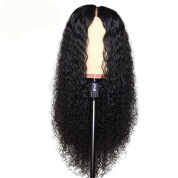 $enCountryForm.capitalKeyWord UK - Top quality Kinky curly Human Hair Lace Front Wigs Brazilian Hair Malaysian Swiss Lace Cap Bleached Knots lace front wig with baby hair