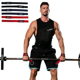 $enCountryForm.capitalKeyWord NZ - 2PCS Pair Weight Lifting Hand Wrist Bar Support Strap Brace Gym Straps Weight Lifting Wrap Body Building Grip Glove 3 Colors Wholesale M422F