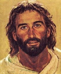 head portraits NZ - xa042# Richard Hook HEAD OF CHRIST Jesus Smiling Portrait Home Decor HD Print Oil Painting On Canvas Wall Art Canvas Pictures 200109