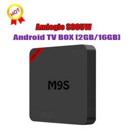 $enCountryForm.capitalKeyWord Australia - M9S MINI TV BOX Amlogic S905W Quad-core Android 7.1 2.4G WiFI 100M Lan high quality internet tv box 2GB 16GB Smart media player x96 mini