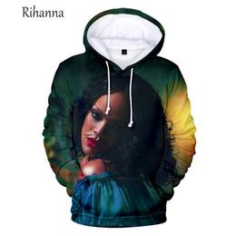 Rihanna 3d sweatshiRt online shopping - Global Top Singer Rihanna Fans Hoodies Men s D Printed Streetwear Personality Sweatshirt Rihanna Women Autumn Winter Hoodies D