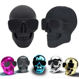 Mega Player Australia - 2019 Portable Skull Bluetooth Speakers Skull Head Ghost Wireless Stereo Subwoofer Mega Bass 3D Stereo Hand-free Audio Player Mini Speaker