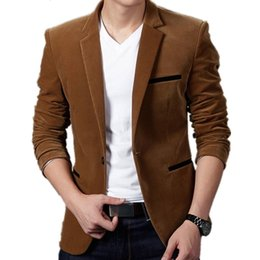 Red casual blazeRs foR men online shopping - Dropshipping Mens Fashion Brand Blazer British s Style Casual Slim Fit Suit Jacket Male Blazers Men Coat Jacket For Men SH190916