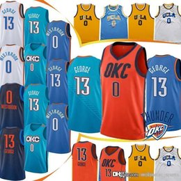 Logo jerseys online shopping - Russell Westbrook Paul George jerseys new youth men Embroidery Logos MEN Top quality HOT