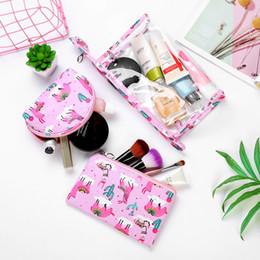 $enCountryForm.capitalKeyWord Australia - Printed Leather Transparent PVC Cosmetic Bag Three Piece Travel Makeup Bag Hand Portable Wash LMJZ