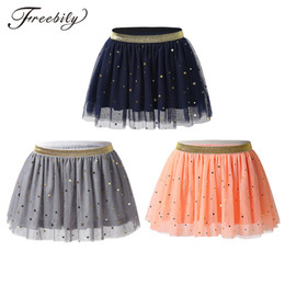 wholesale girls tutu Canada - kids Girls Ballet Tutu Skirt Sparkly Stars Sequins Ruffled Layered Tulle Skirt for Ballet Party Stage Performance Dance Costume