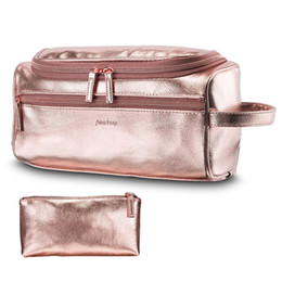 Flat hooks online shopping - Unisex Cosmetic Bags Organizer PU Waterproof Large Capacity Hook Bath Bag Hanging Toiletry Bag Wash Makeup Storage Bags GGA1917