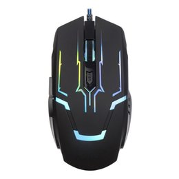 Computer Backlight UK - JGM806 Wired Gaming Mouse 6 Buttons 2400DPI Colorful LED Backlight Ergonomic Optical Mice USB Computer Mouse for Gamers