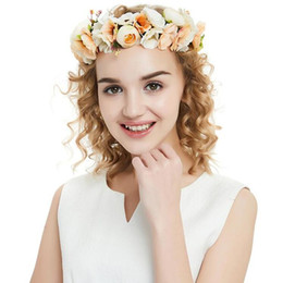 hair mint Australia - New Flower Bridal Floral Crown Cute Hair Band Wreath Mint Head Wreath Wedding Headpiece Bridesmaid Women Hair Accessories CPA1893