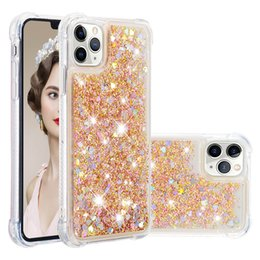Dynamic glitter case black iphone online shopping - Luxury Glitter Liquid Cover For iphone Pro Max Case Love Heart Dynamic Liquid Quicksand Transparent Cover For iphone XS Max XR