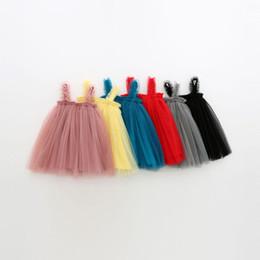 Wholesale Tutus Australia - Summer new Girls Sling Mesh Skirt Dress Children Princess Skirt Tutu
